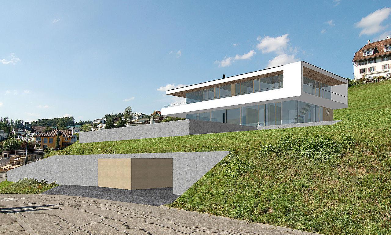 Detail k m architektur daniel sauter architekt for Planung einfamilienhaus